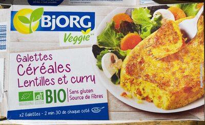 Galette céréales lentilles et curry - Product
