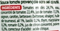 Sauce provençale - Ingredienti - fr