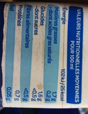 lait d'amande - Informations nutritionnelles - fr
