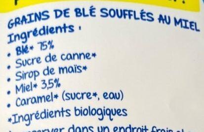 Les p'tits curieux Crips au miel - Ingrédients - fr