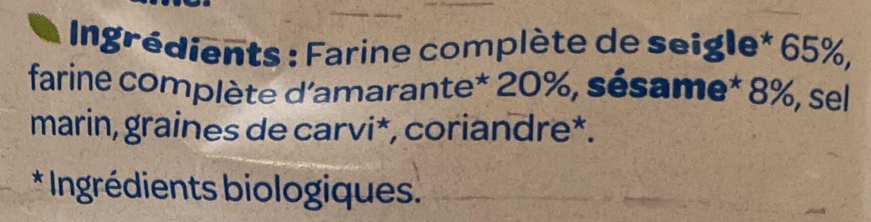 Tartines croustillantes Seigle Sésame - Ingredienti - fr