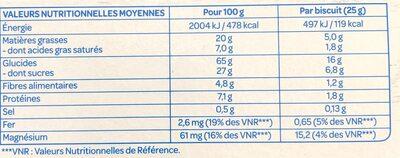 Fourrés chocolat noir - Nutrition facts - fr