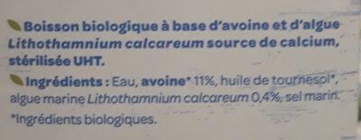 Avoine Calcium - Ingrediënten - fr