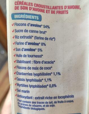 Crousti' avoine superfruit - Ingrédients - fr