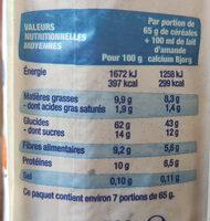 Crousti' avoine superfruit - Informations nutritionnelles - fr