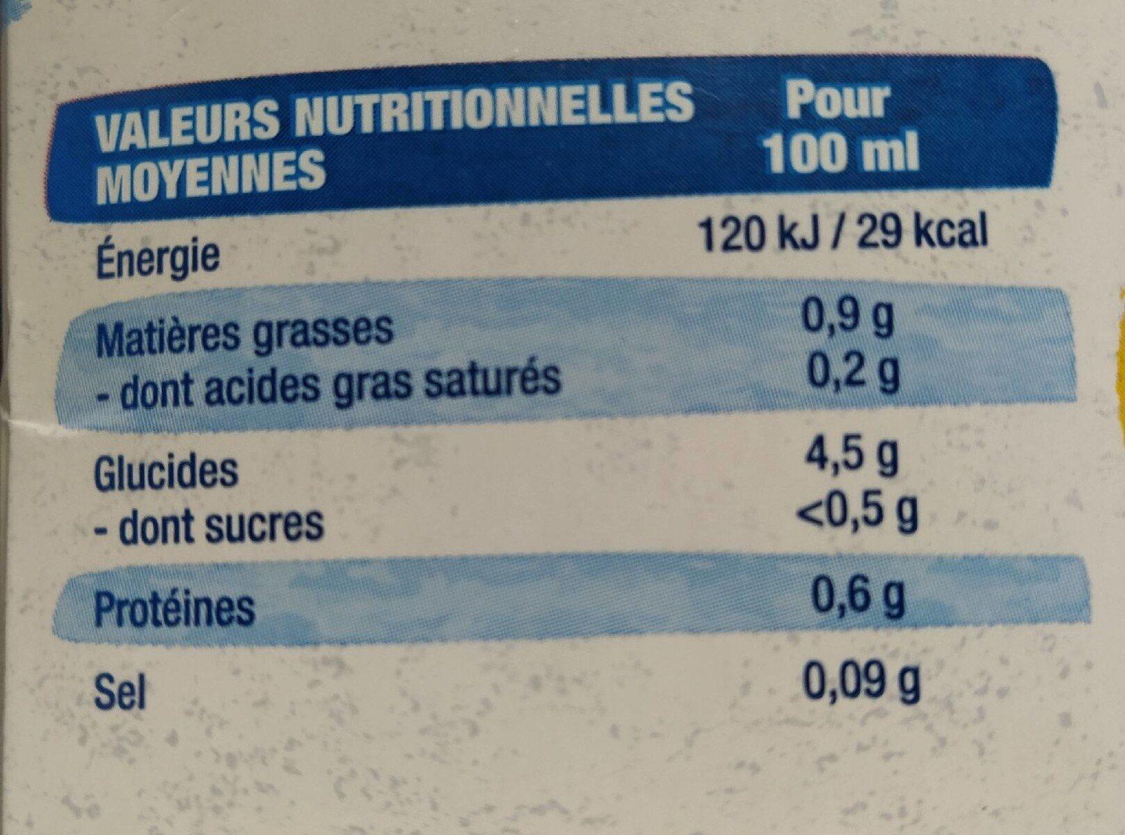 Boisson Avoine Sans Sucres - Voedingswaarden - fr