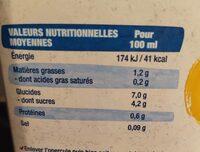 Lait d'avoine toastée - Valori nutrizionali - en