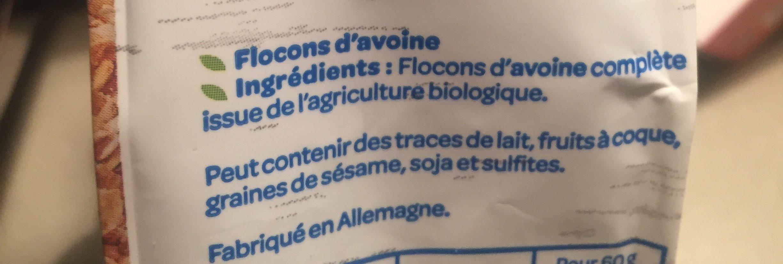 Flocons d'avoine complete - Ingrédients - fr