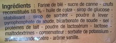 Madeleines aux œufs - Ingrédients - fr