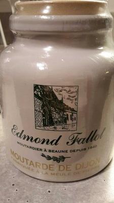 Moutarde de dijon fabriquée à la meule de pierre - Produit