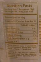 Moutarde de Dijon - Informations nutritionnelles