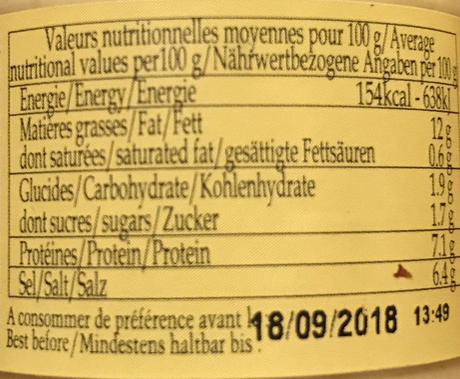Moutarde de Dijon au vin blanc - Ingredienti - fr