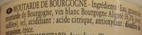 Moutarde de Bourgogne IGP - Ingredients - fr