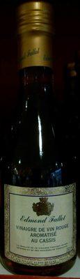 Vinaigre de vin rouge aromatisé au cassis - Product