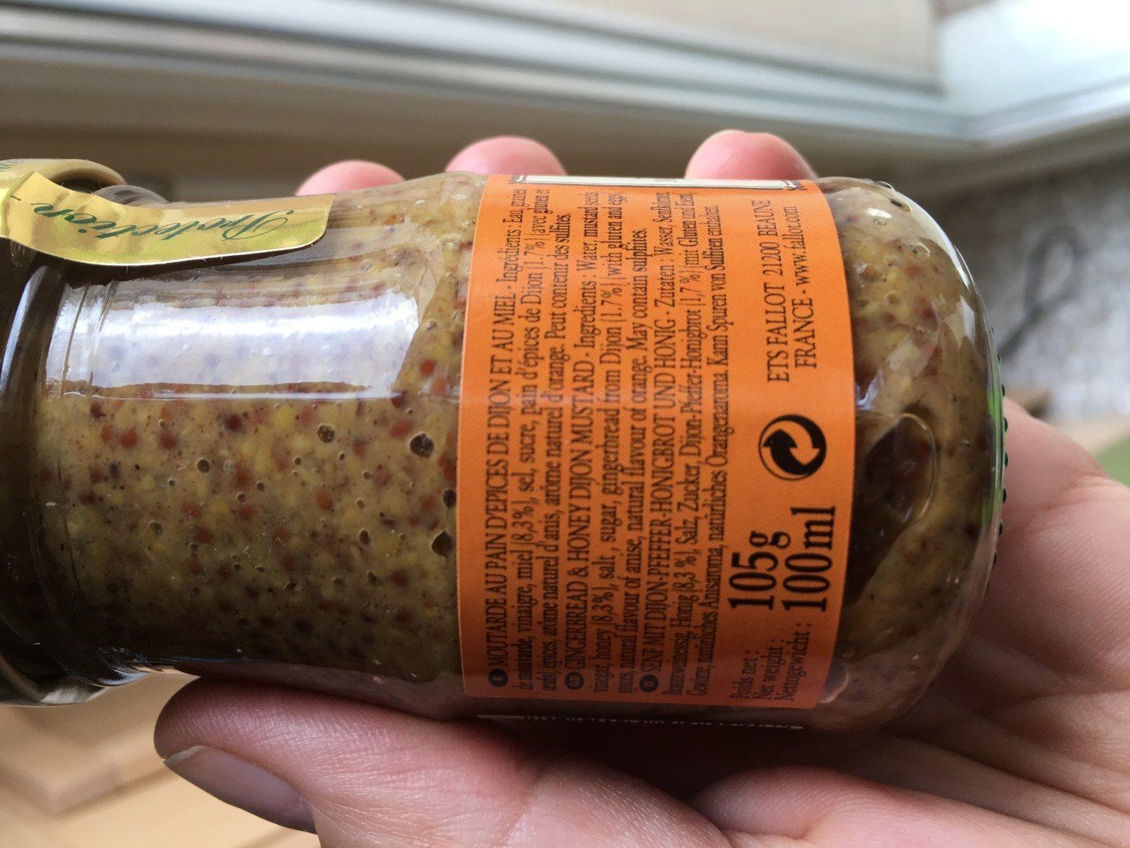 Moutarde au pain d'épices - Ingredients - fr