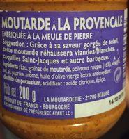 Moutarde à la procençale - Ingrédients