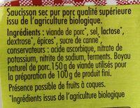 Le Bio - Ingrediënten