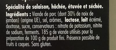 Spécialité à la Noix de Jambon - Ingrediënten