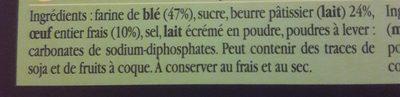 Véritable palet de Bretagne pur beurre - Ingrediënten