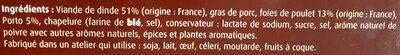 Farce cuisinée au foie de volaille et au Porto - Ingrediënten - fr
