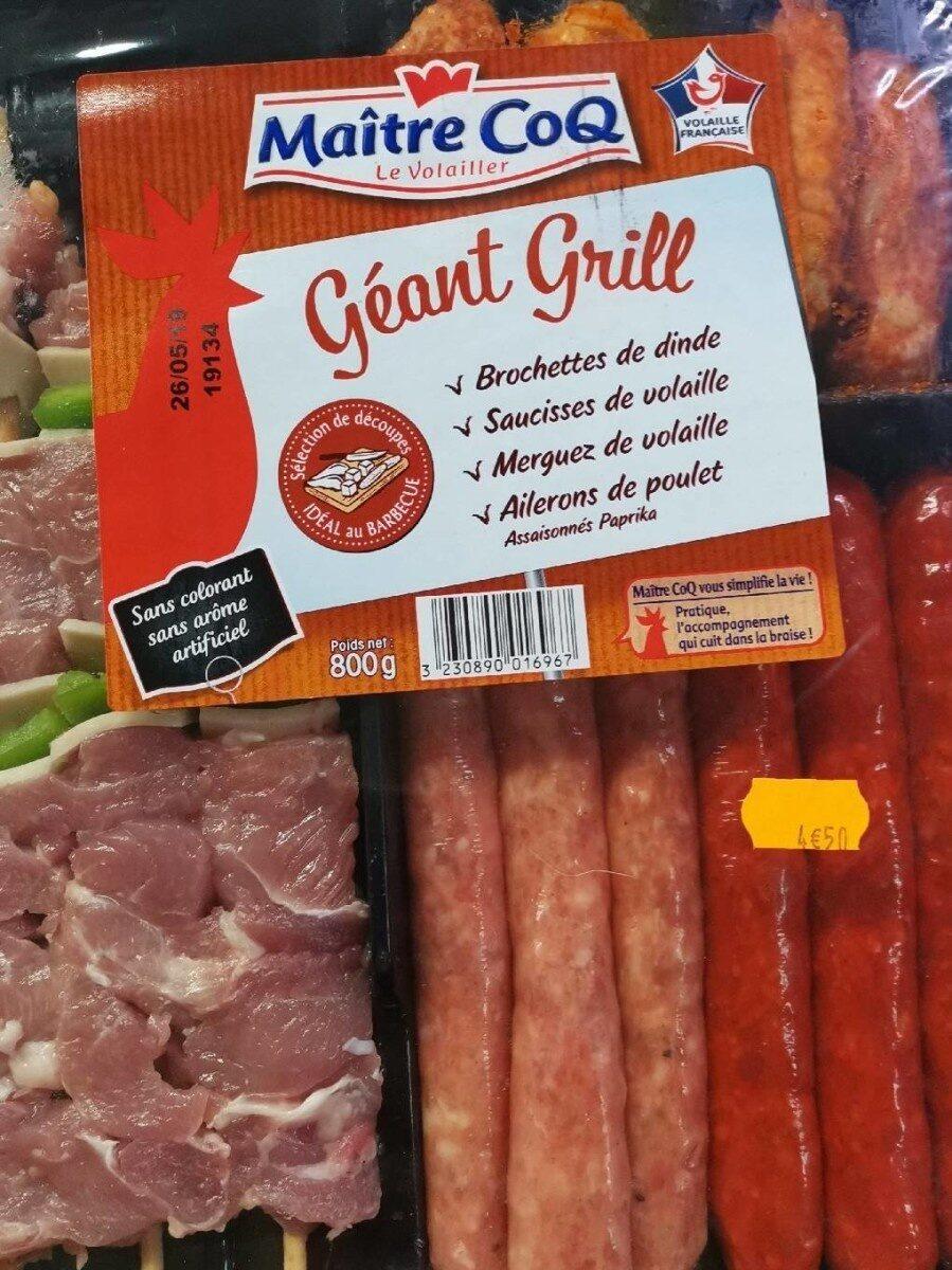 Géant grill - Produit