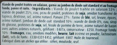 Maitre coq cordon bleu sous atmosphere lot - Ingrédients - fr