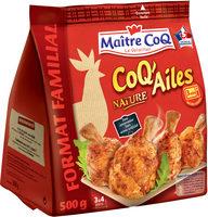 Maxi Coq Ailes Nature 500g - Produit