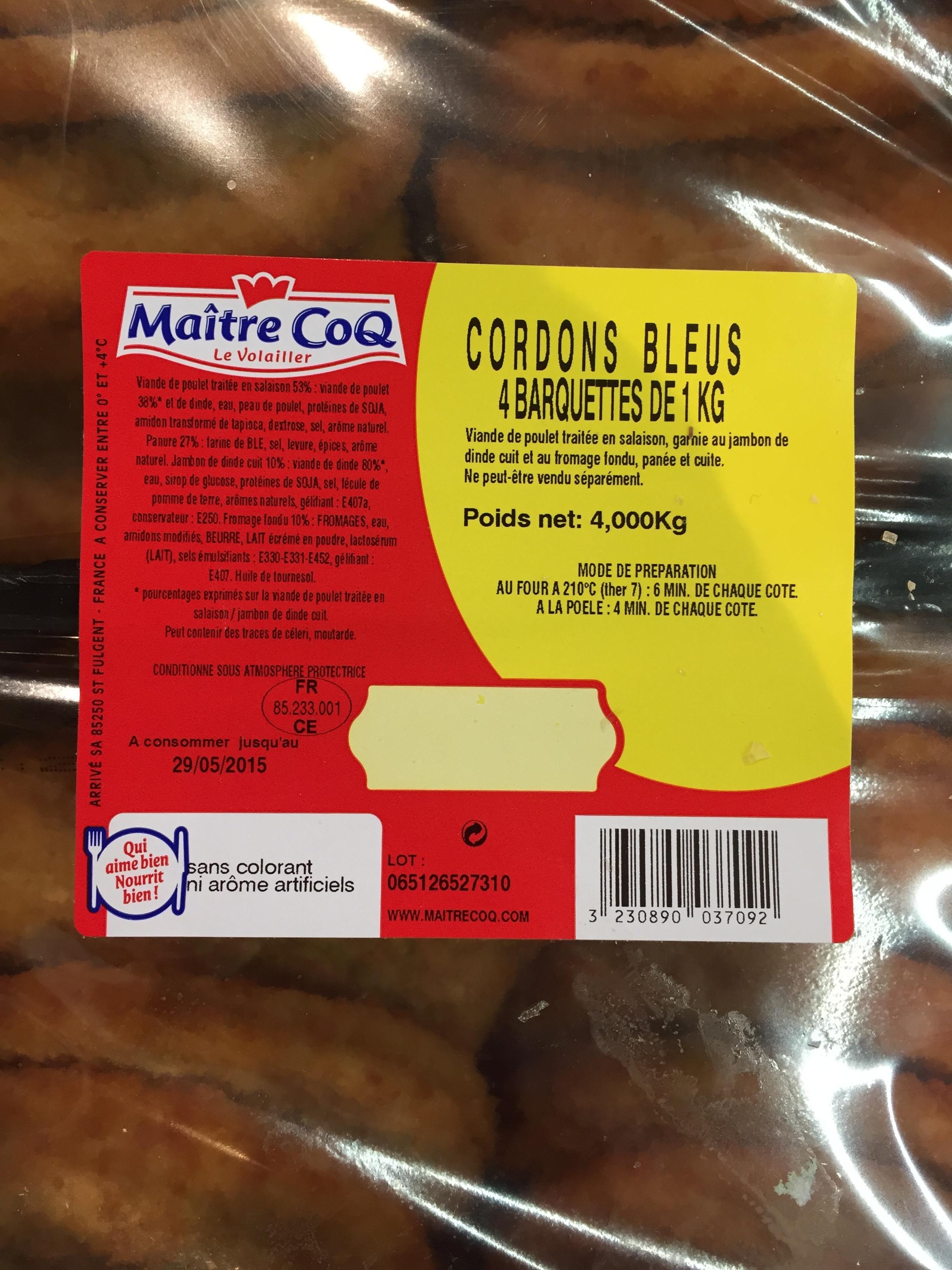Cordons Bleus (4 Barquettes de 1 kg) - Produit - fr