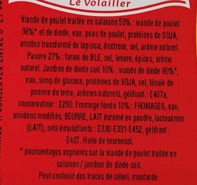 Cordons Bleus (4 Barquettes de 1 kg) - Ingrédients