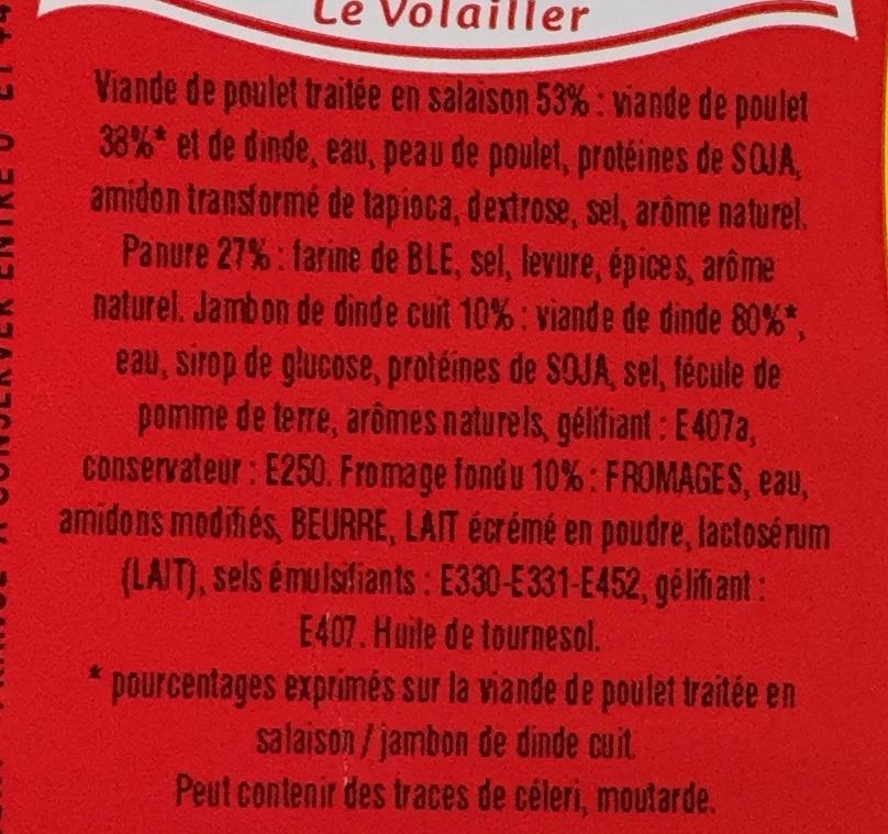 Cordons Bleus (4 Barquettes de 1 kg) - Ingrédients - fr