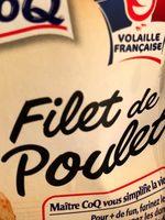 Filet Poulet Blanc Maître Coq, Végétal - Ingredients