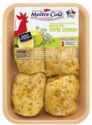 Hauts de cuisses de poulet recette thym citron - Produit