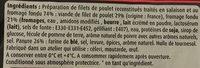 Mini donuts de poulet 400g - Ingrédients - fr