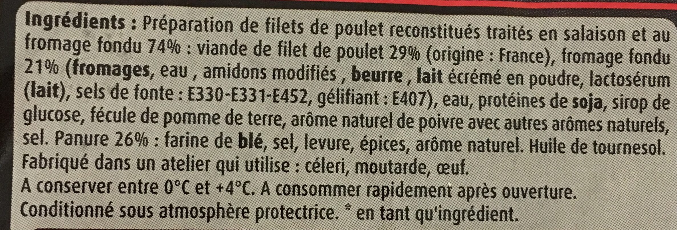 Mini donuts de poulet 400g - Ingrediënten - fr