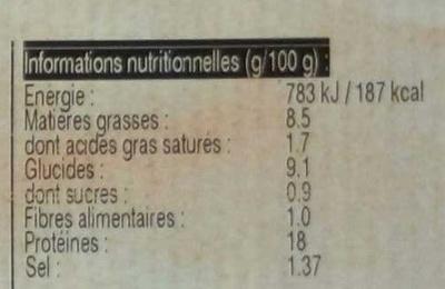 Pilon de Poulet Croustillant - Informations nutritionnelles