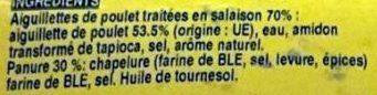 Aiguillettes de Poulet Panées - Ingrédients