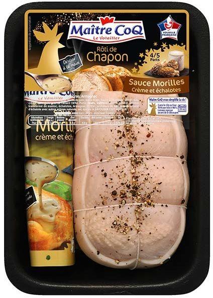 Rôti de chapon sauce morilles crème et échalotes - Product - fr