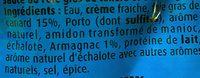 Sauce Foie Gras Armagnac - Ingrédients - fr