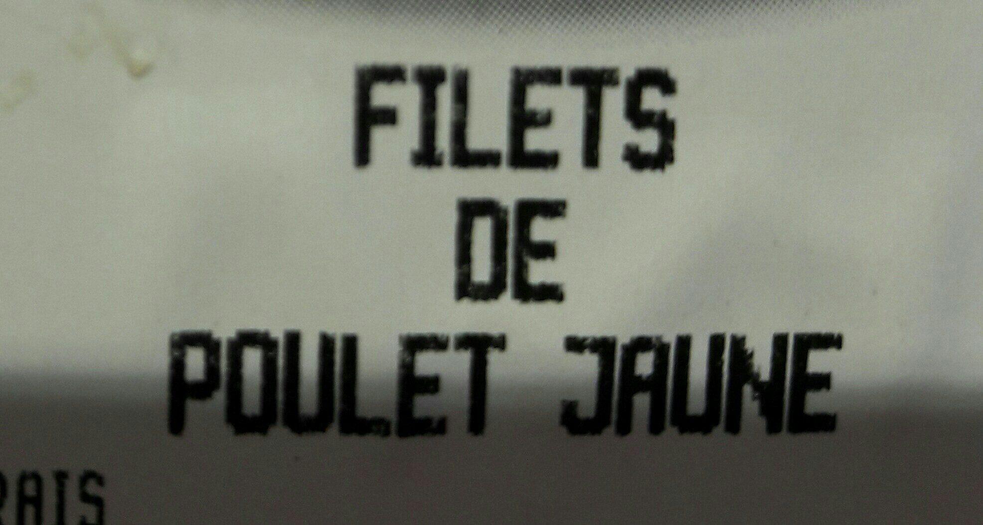 Filets de Poulet Jaune Fermier Label Rouge - Ingredients - fr