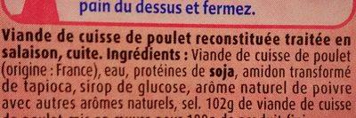 L'Extra de Poulet Grillé Nature - Ingredients - fr