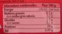 L'Extra de Poulet Grillé Nature - Voedingswaarden
