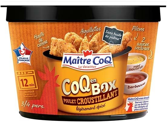 Coq en box poulet croustillant légèrement épicé - Produit - fr