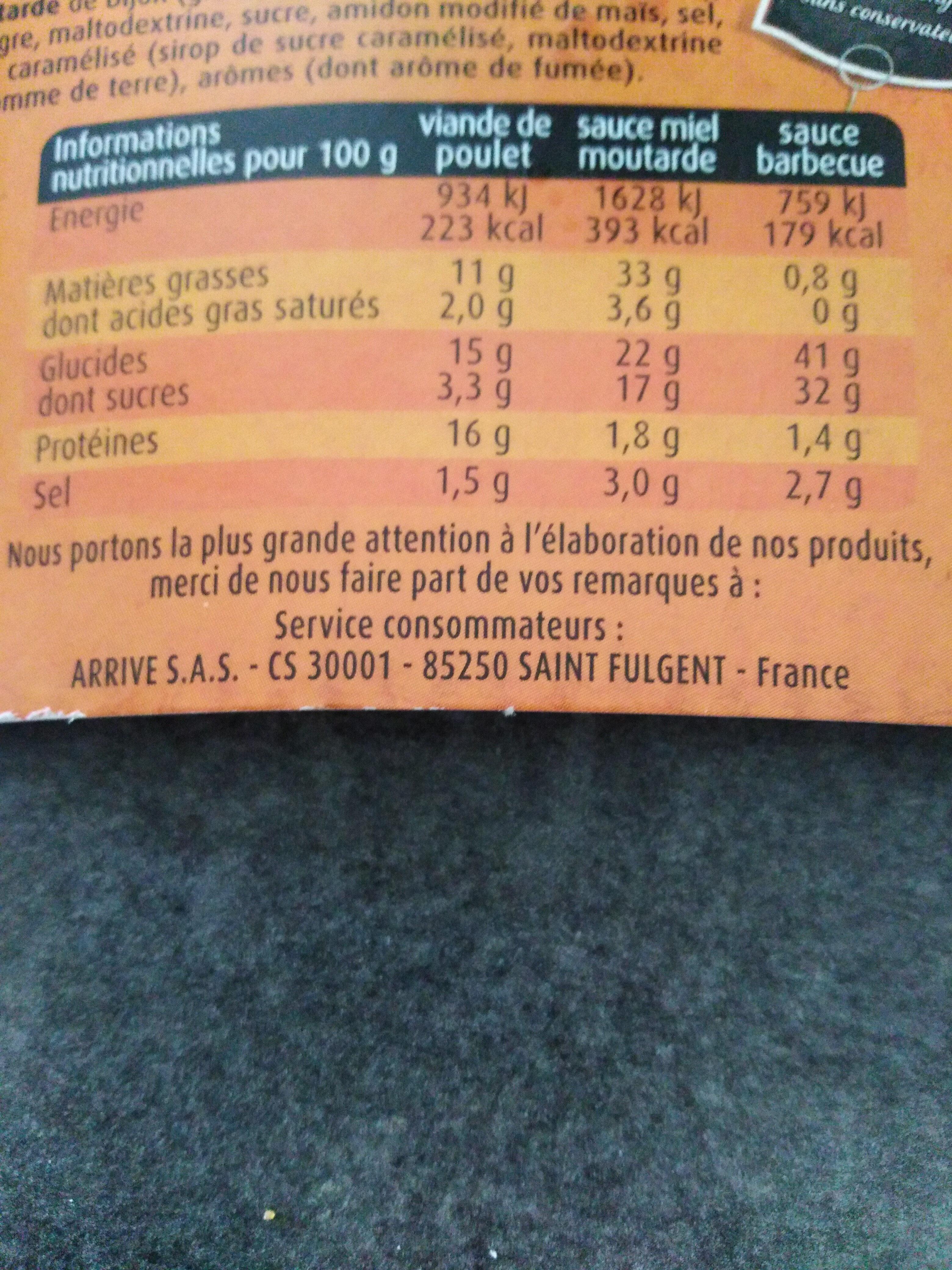 Coq en box poulet croustillant légèrement épicé - Informations nutritionnelles - fr