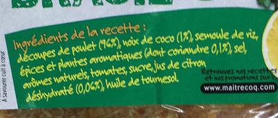 Morceaux choisis de Poulet recette Brasil - Ingrediënten