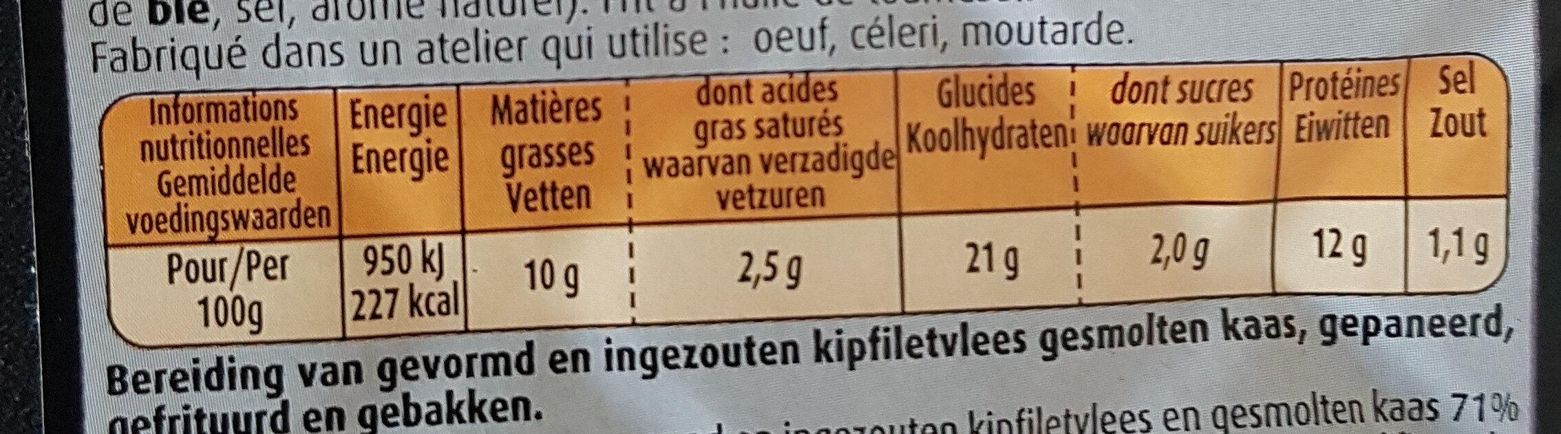 Donuts de poulet 800g - Voedingswaarden - fr