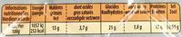 Donuts de poulet 800g - Informations nutritionnelles