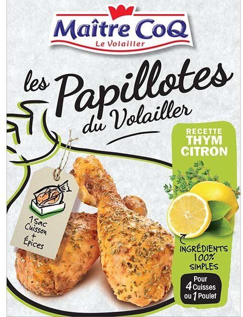 Les papillotes du volailler recette thym citron - Product - fr