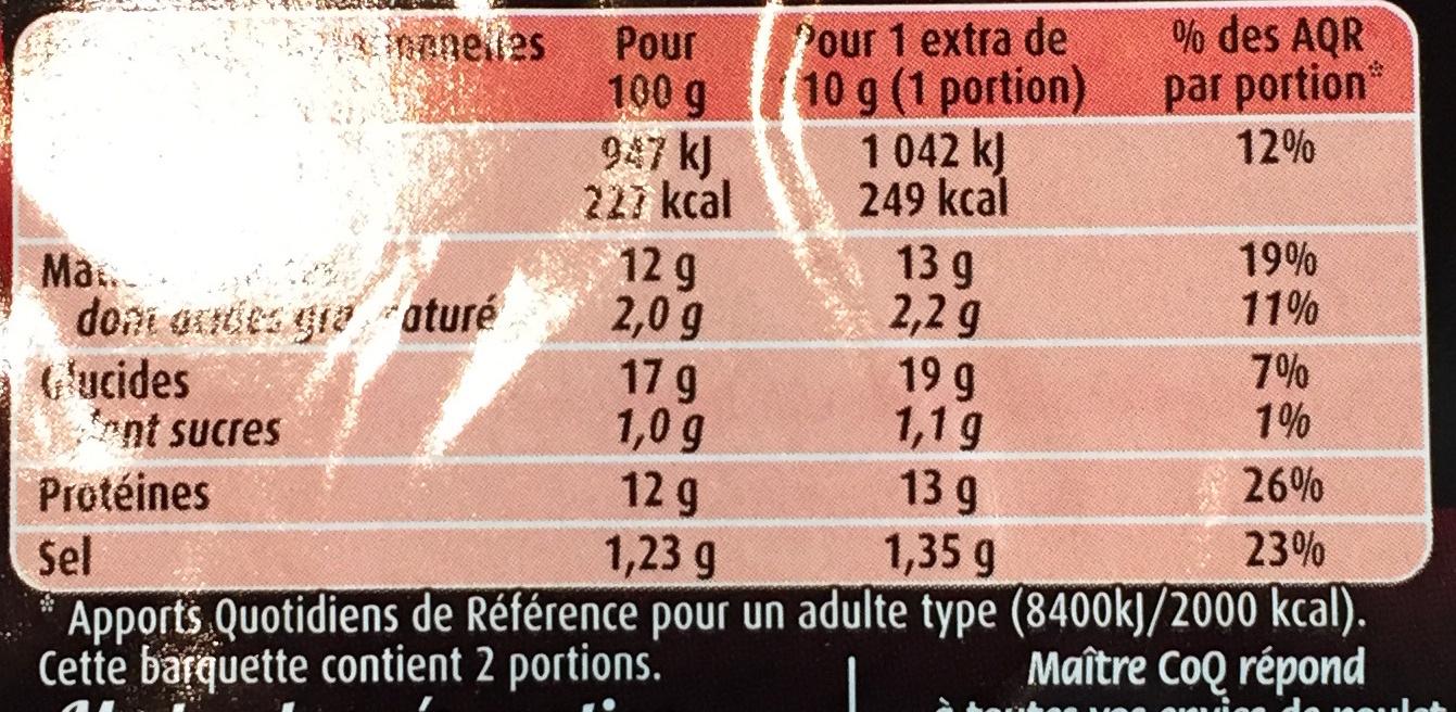 L'Extra Cordon Rouge (x 2) - Informations nutritionnelles - fr