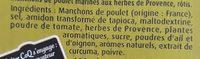 Coq ailes herbes de provence - Ingrédients - fr