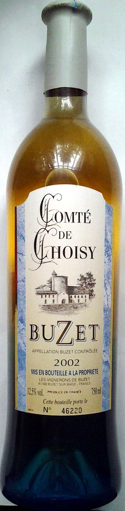 Comté de Choisy Buzet 2002 - Produit